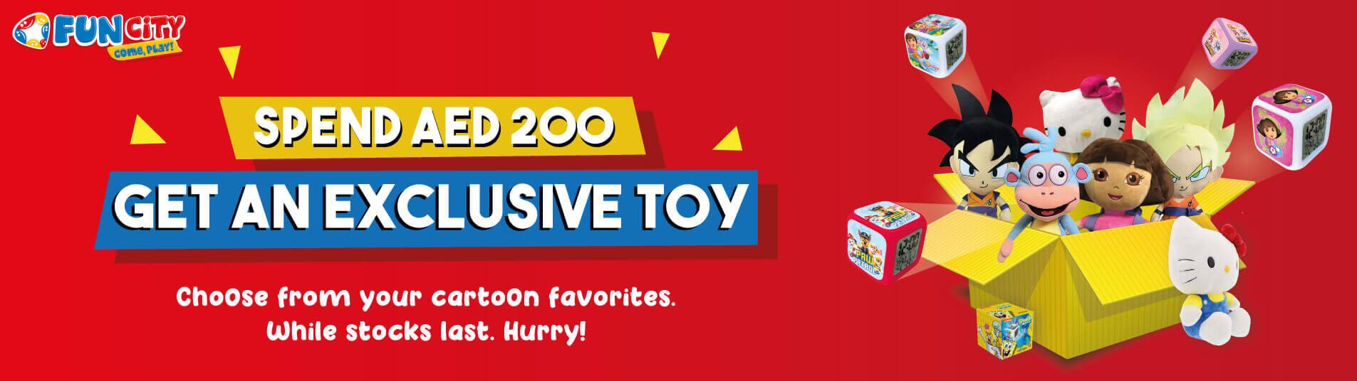 Toy promo from Fun City Ibn Battuta Mall