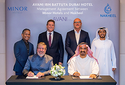 Nakheel and Minor Hotels sign management agreement for new AVANI hotel in Dubai