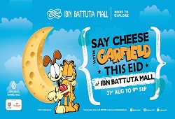 Ibn Battuta Mall brings feline favourite Garfield to Dubai this Eid Al Adha